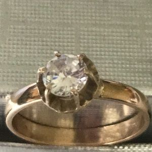 VINTAGE 10k solid real gold ring hand made